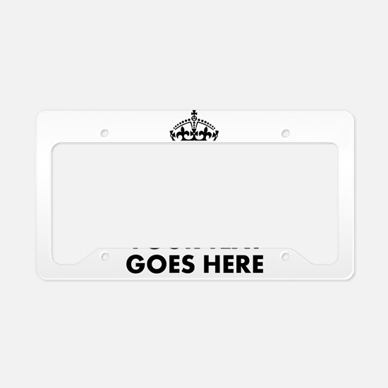 keep calm gifts License Plate Holder
