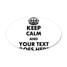 keep calm gifts Oval Car Magnet