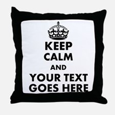 keep calm gifts Throw Pillow