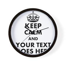 keep calm gifts Wall Clock