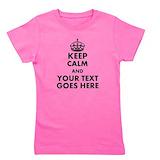 Keep calm Girl's Dark T-Shirt