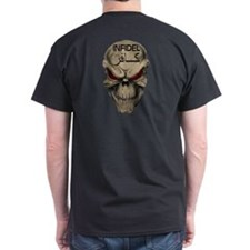 Red-Eyed Infidel Skull Dbl-Sided T-Shirt