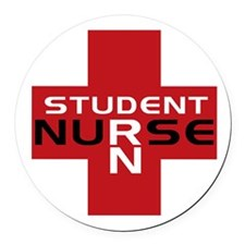 Cute Student nurse Round Car Magnet