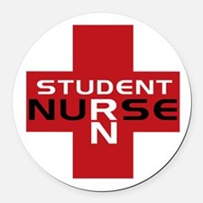 Cool Student nurse Round Car Magnet