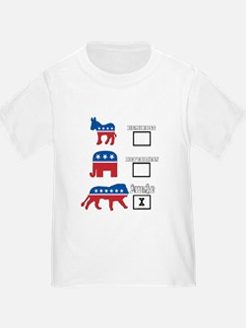 Not Democrat Not Republican We are awake. T-Shirt