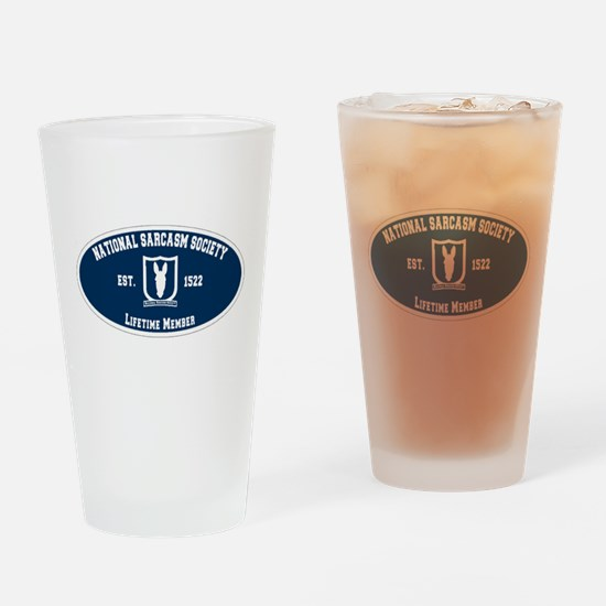 National Sarcasm Society Drinking Glass