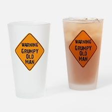 Warning Grumpy Old Man Drinking Glass