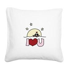 i love you Square Canvas Pillow