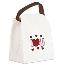 I LOVE YOU Canvas Lunch Bag