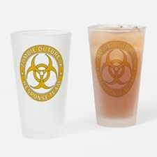 Zombie Outbreak Response Team Gold Drinking Glass