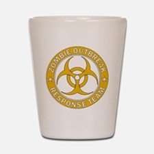 Zombie Outbreak Response Team Gold Shot Glass