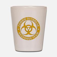 Zombie Outbreak Response Team Gold Shot Glass