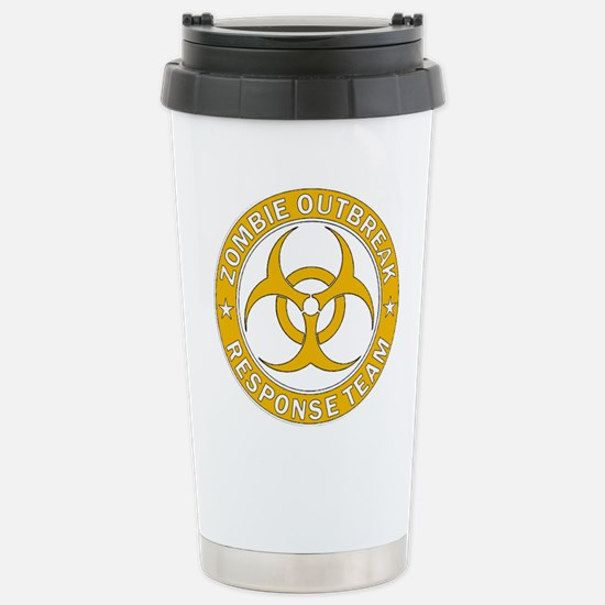 Zombie Outbreak Respons Stainless Steel Travel Mug