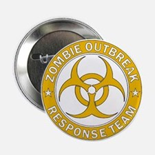 "Zombie Outbreak Response Team - Gold 2.25"" Button"