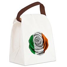 Irish Rose Flag Canvas Lunch Bag
