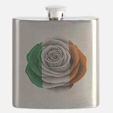 Irish Rose Flag Flask