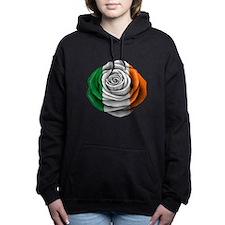 Irish Rose Flag Women's Hooded Sweatshirt