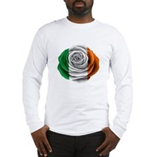 Irish Rose Flag Long Sleeve T-Shirt