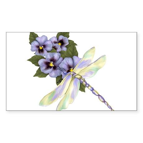 PurplePansyDragonfly-Transparent Sticker