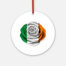 Irish Rose Flag on White Ornament (Round)