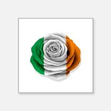 Irish Rose Flag on White Sticker