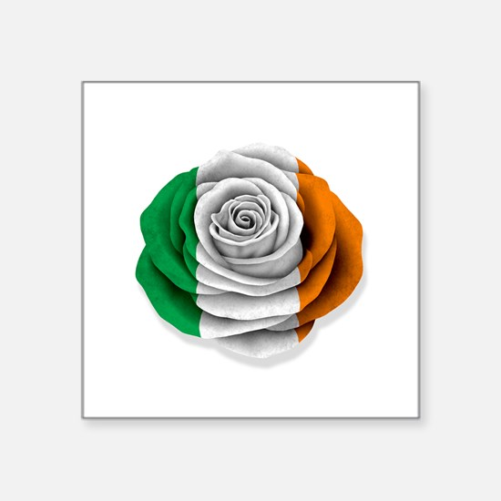 Irish Rose Flag on White Sticker