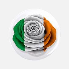 """Irish Rose Flag on White 3.5"""" Button"""