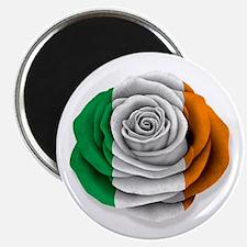 Irish Rose Flag on White Magnets