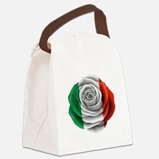 Italian Rose Flag Canvas Lunch Bag