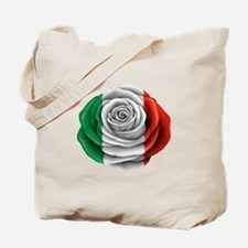Italian Rose Flag Tote Bag