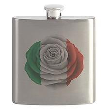 Italian Rose Flag Flask