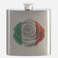 Italian Rose Flag Flask