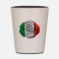 Italian Rose Flag Shot Glass