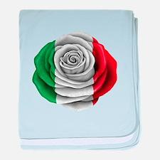 Italian Rose Flag baby blanket