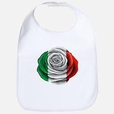 Italian Rose Flag Bib