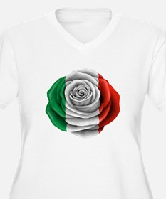 Italian Rose Flag Plus Size T-Shirt