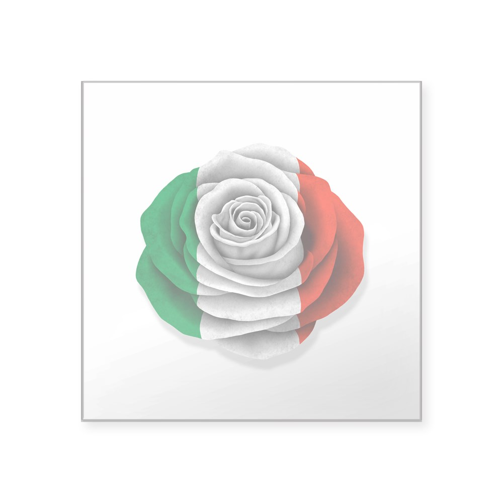 1301170216 CafePress Italian Rose Flag On White Sticker Square Sticker
