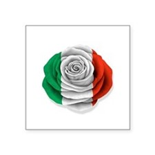 Italian Rose Flag on White Sticker
