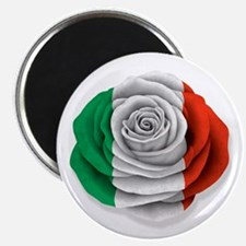 Italian Rose Flag on White Magnets