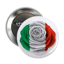 "Italian Rose Flag on White 2.25"" Button (100 pack)"