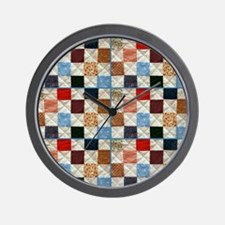 Colorful quilt pattern Wall Clock