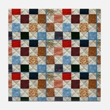 Colorful quilt pattern Tile Coaster