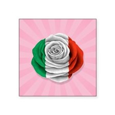 Italian Rose Flag on Pink Sticker