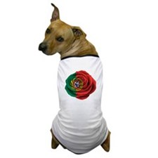 Portuguese Rose Flag Dog T-Shirt