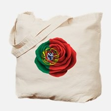 Portuguese Rose Flag Tote Bag