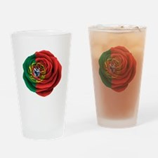 Portuguese Rose Flag Drinking Glass