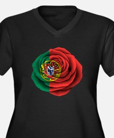 Portuguese Rose Flag Plus Size T-Shirt