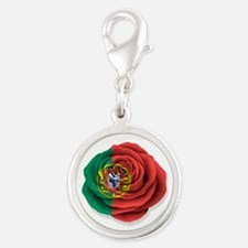 Portuguese Rose Flag on White Charms