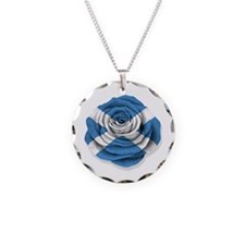 Scottish Rose Flag on White Necklace