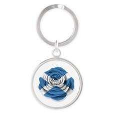 Scottish Rose Flag on White Keychains
